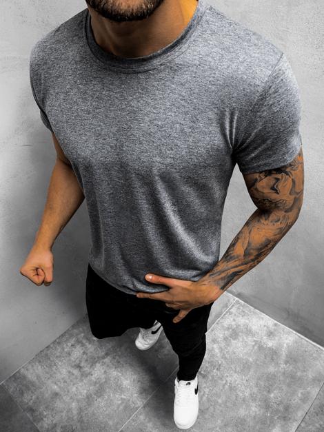 T-Shirt Kurzarm Shirt Mit Motiv Rundhals Mit Aufdruck Herren OZONEE JS//KS2014Z