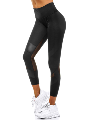 Damen Leggings Schwarz OZONEE O/54719