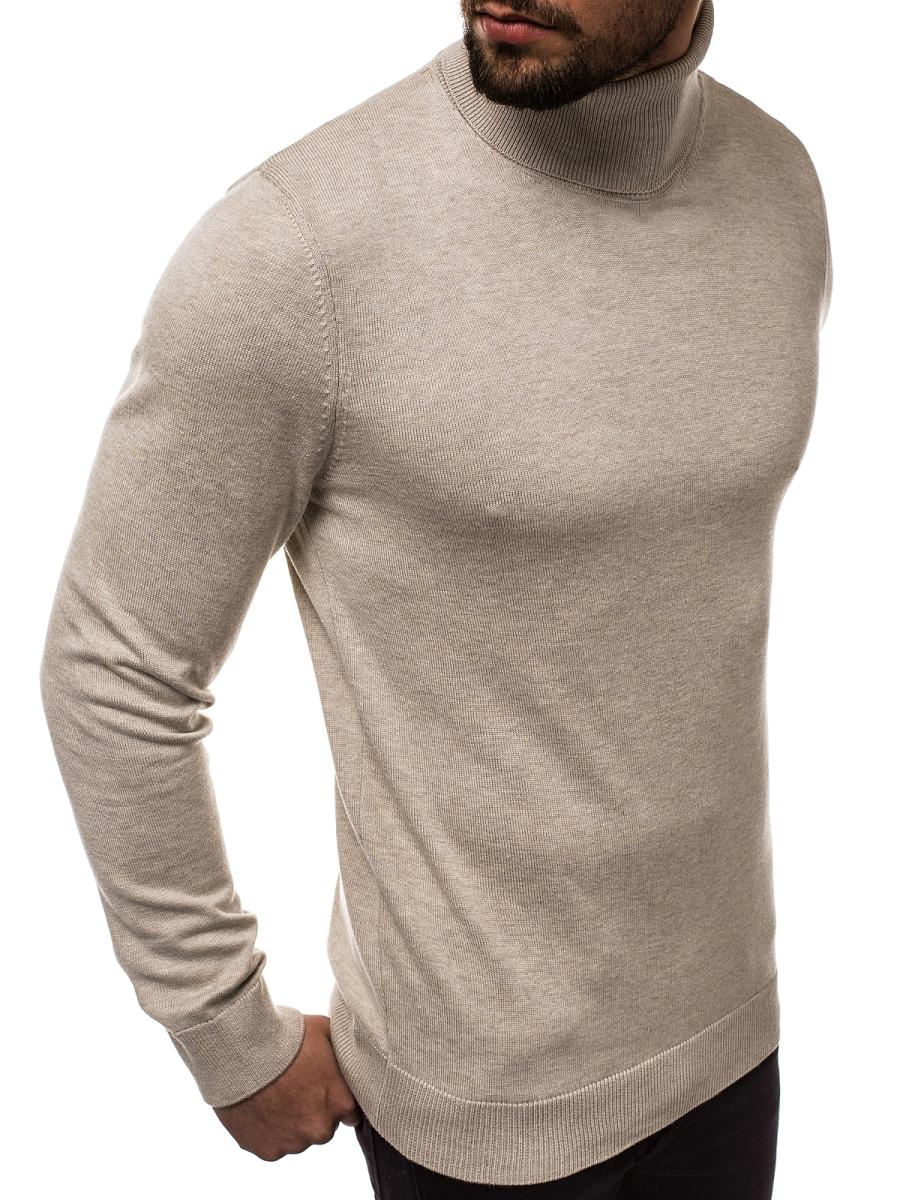 Herren Pullover Beige OZONEE B95008 | OZONEE