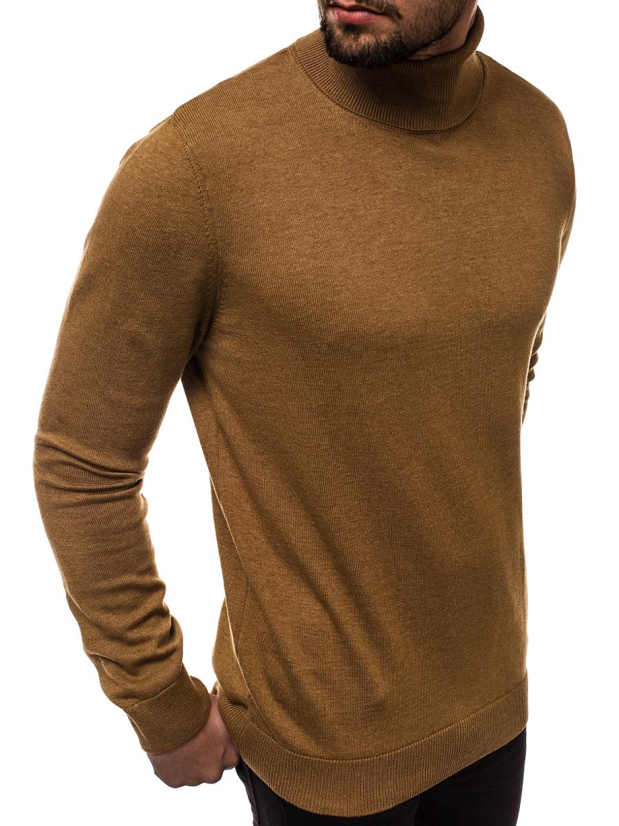 Herren Pullover dunkelbraun OZONEE B95008