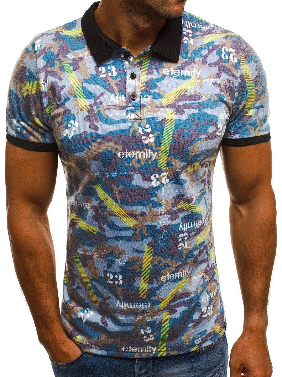 the best attitude b1df1 7bda9 OZONEE MACH/5004P Herren Poloshirt Blau | OZONEE