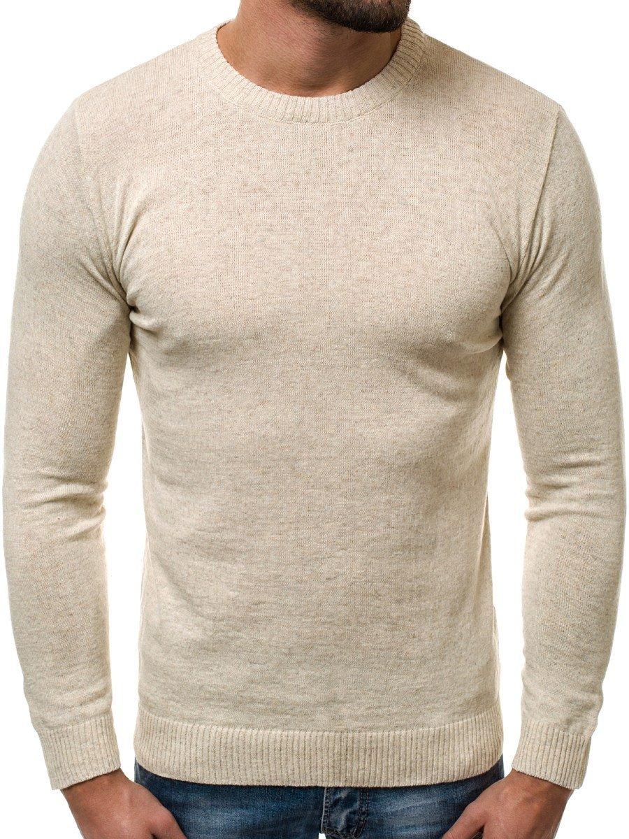 OZONEE O600118 Herren Pullover Beige | OZONEE