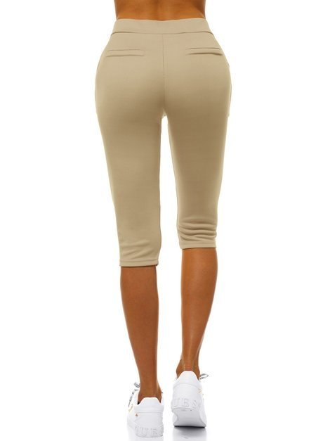 Damen Leggings Beige OZONEE JS/1027/A8