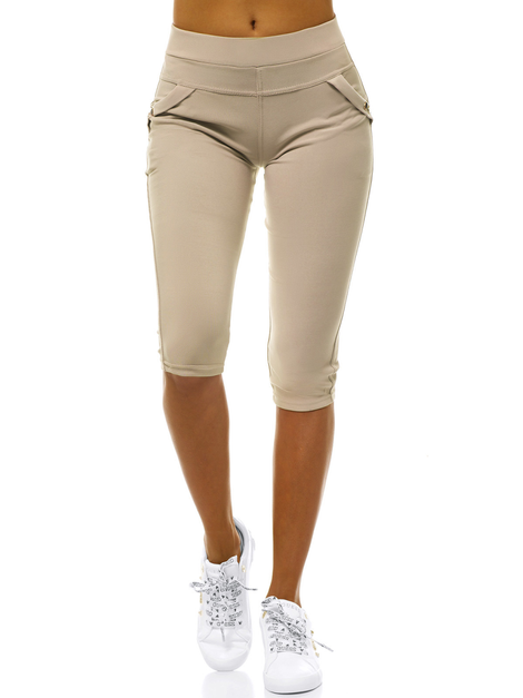 Damen Leggings Beige OZONEE JS/1041/B8
