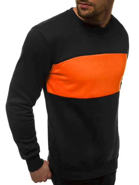 Herren Sweatshirt Schwarz-Orange OZONEE JS/2010