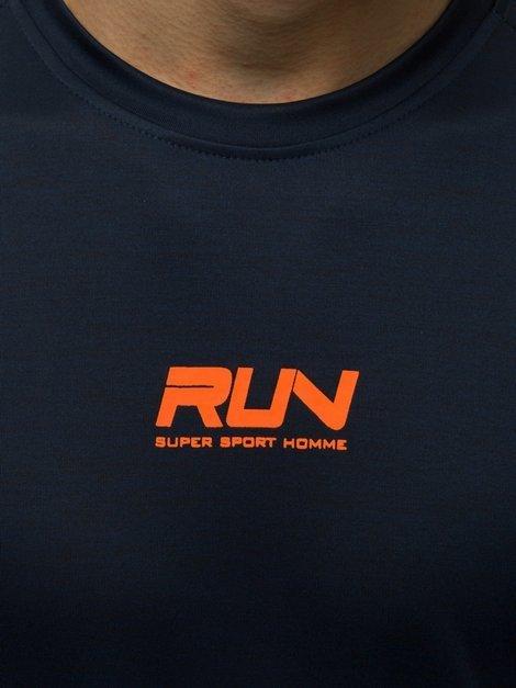 T-Shirt Kurzarm U-Neck Shirt Slim Fit Mit Aufdruck OZONEE JS//KS2013 Herren