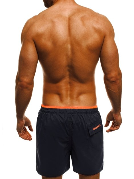 OZONEE 1959 Herren Shorts Dunkelblau-Orange